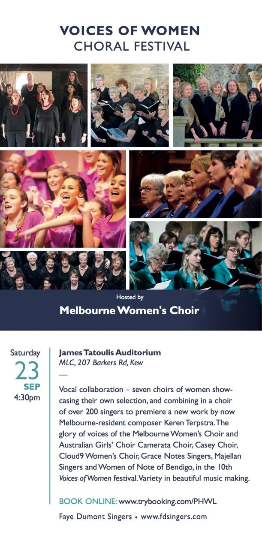 Melbourne Women's Choir - Voices of Women