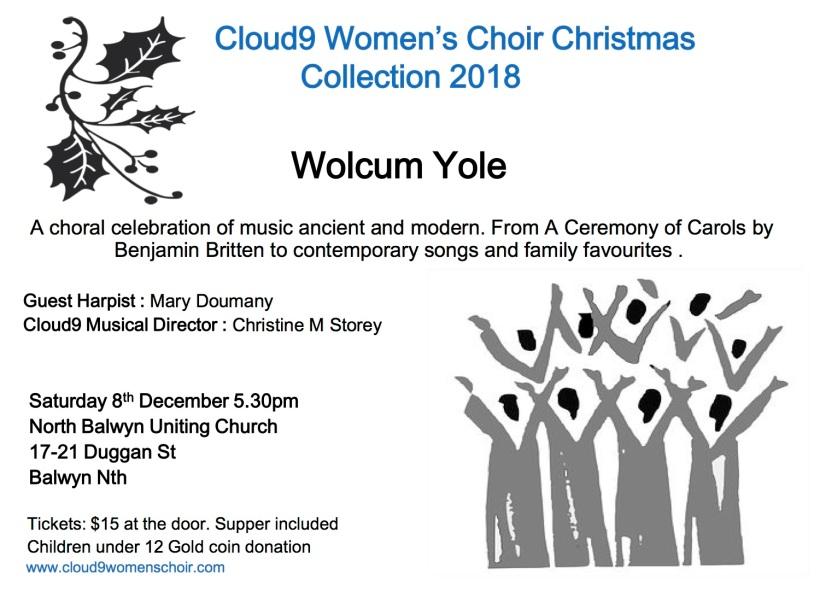 Cloud9 Women_s Choir Christmas Concert 2018.pptx Final